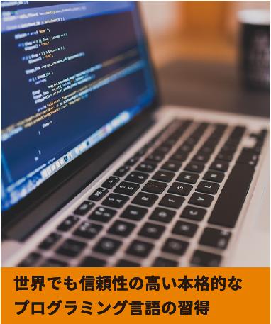 世界でも信頼性の高い本格的なプログラミング言語の習得